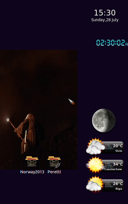 screenshot of temperatures in different places i generally like